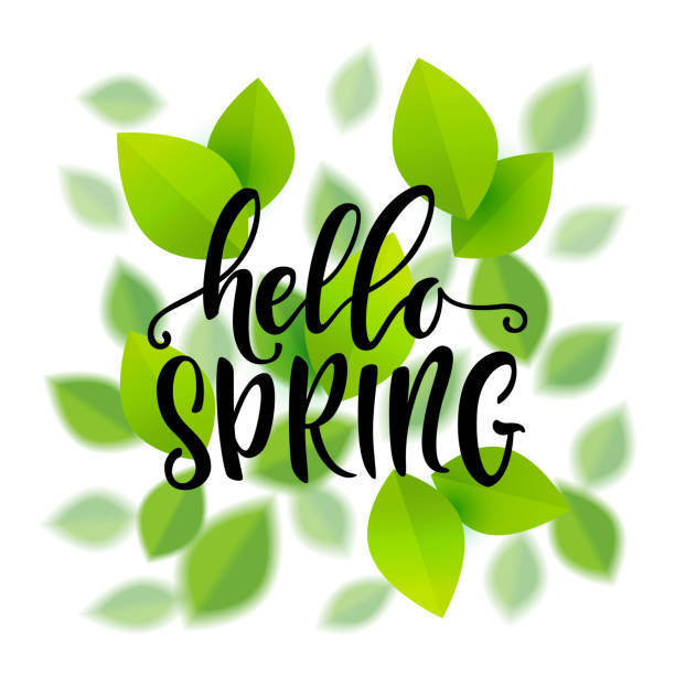 march month vector clip illustrations hello spring graphics cartoons