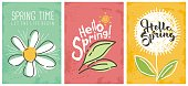 Hello spring seasonal banners collection