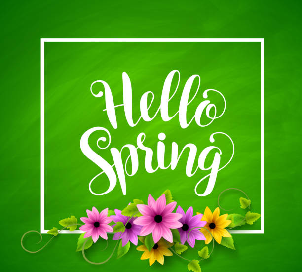 Royalty Free Welcome Spring Clip Art, Vector Images ...