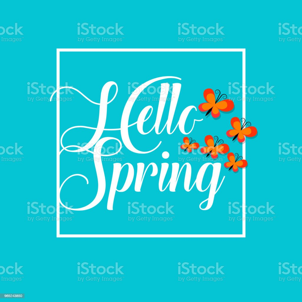 Hello Spring Vector Template Design royalty-free hello spring vector template design stock vector art & more images of abstract