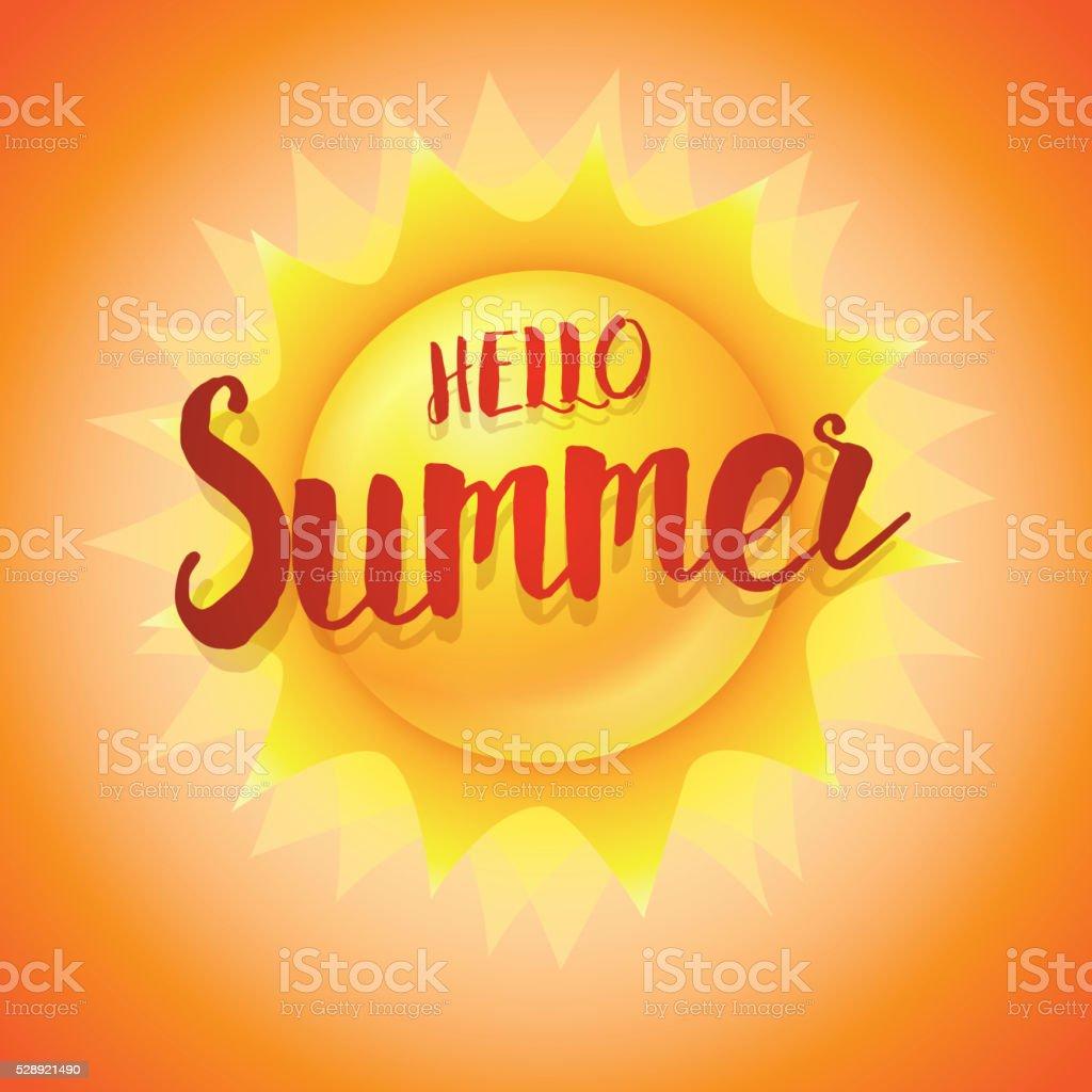 Hello Summer Concept vector art illustration
