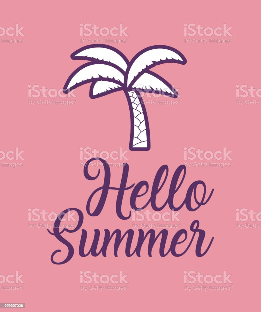 Hola diseño de verano - arte vectorial de Actividad de fin de semana libre de derechos