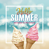 Enjoy a fresh taste of summer with delicious ice-cream at the beach party