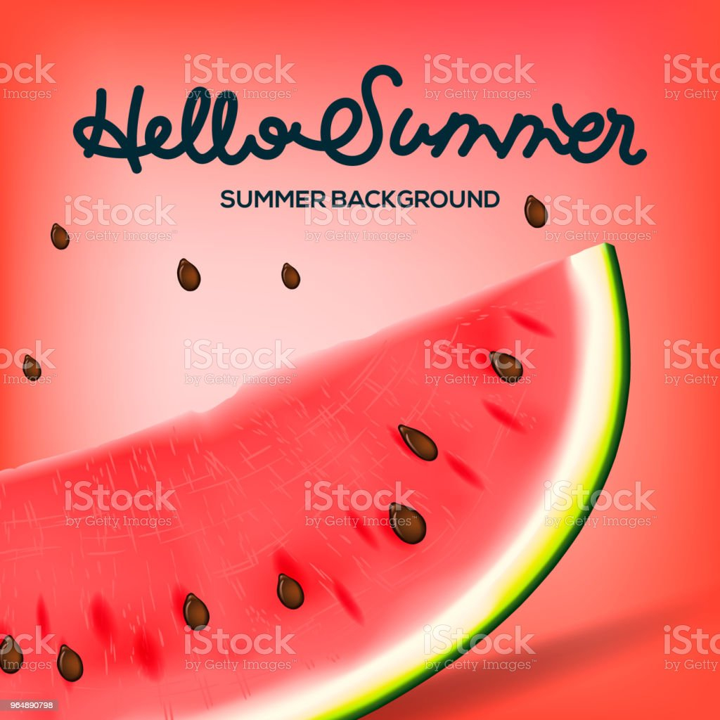 Hello Summer inscription on the background of watermelon. Red fashion, vector illustration royalty-free hello summer inscription on the background of watermelon red fashion vector illustration stock vector art & more images of art