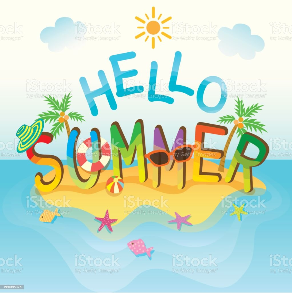 hello summer island icon royalty-free hello summer island icon stock vector art & more images of backgrounds