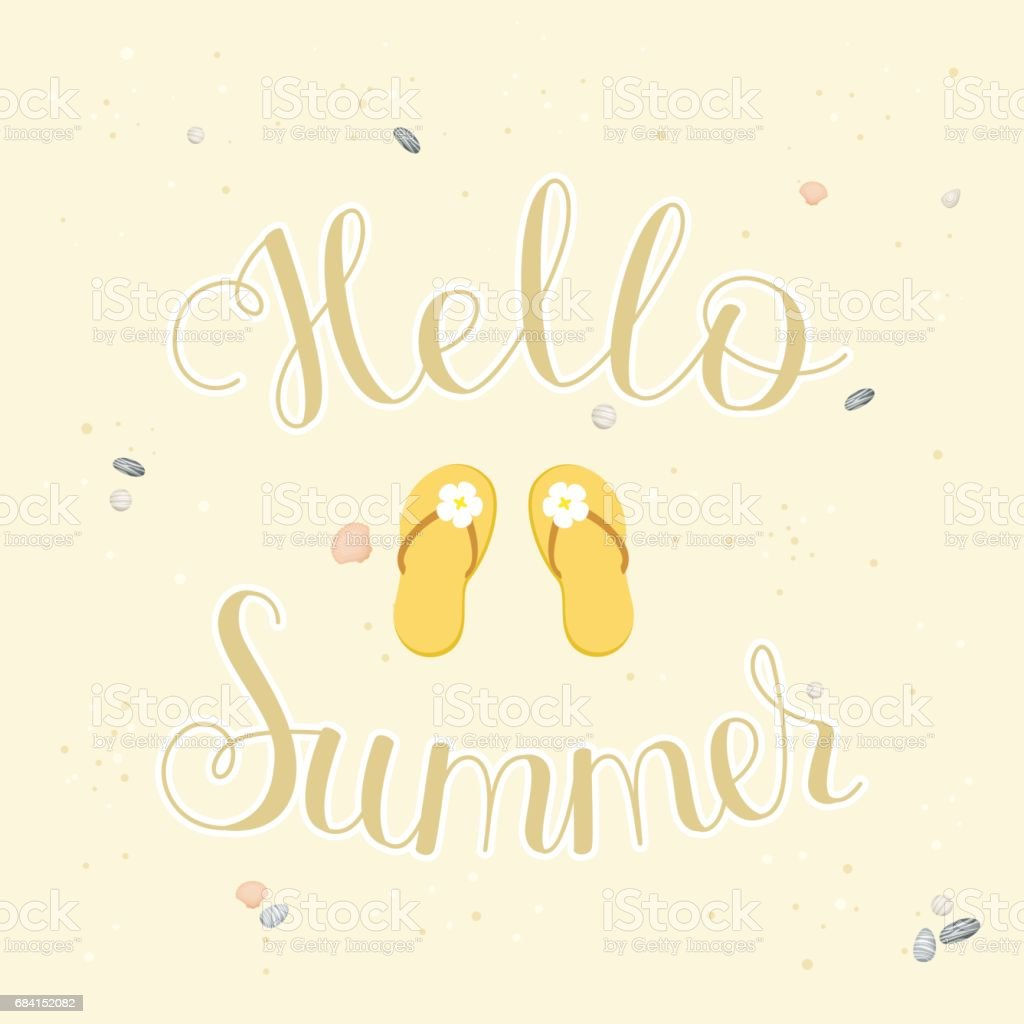 Hello Summer lettering royalty-free hello summer lettering stock vector art & more images of abstract