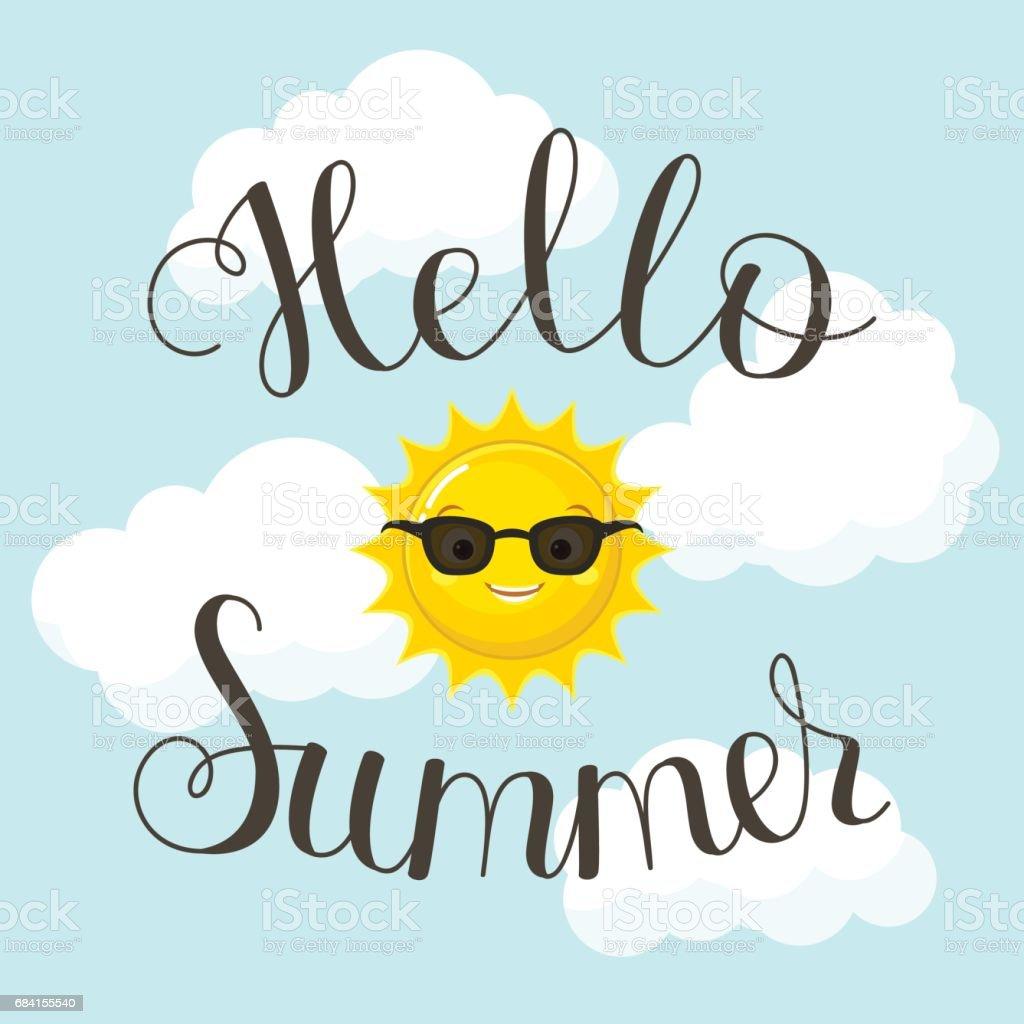 Hello Summer lettering hello summer lettering - immagini vettoriali stock e altre immagini di abbigliamento casual royalty-free