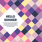 Modern design layout template for hello summer cover design for web banner or print advertising with abstract background.
