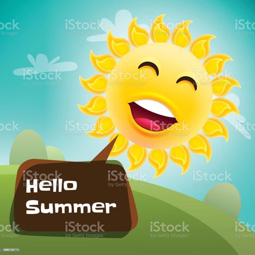 Hola verano Poster - ilustración de arte vectorial
