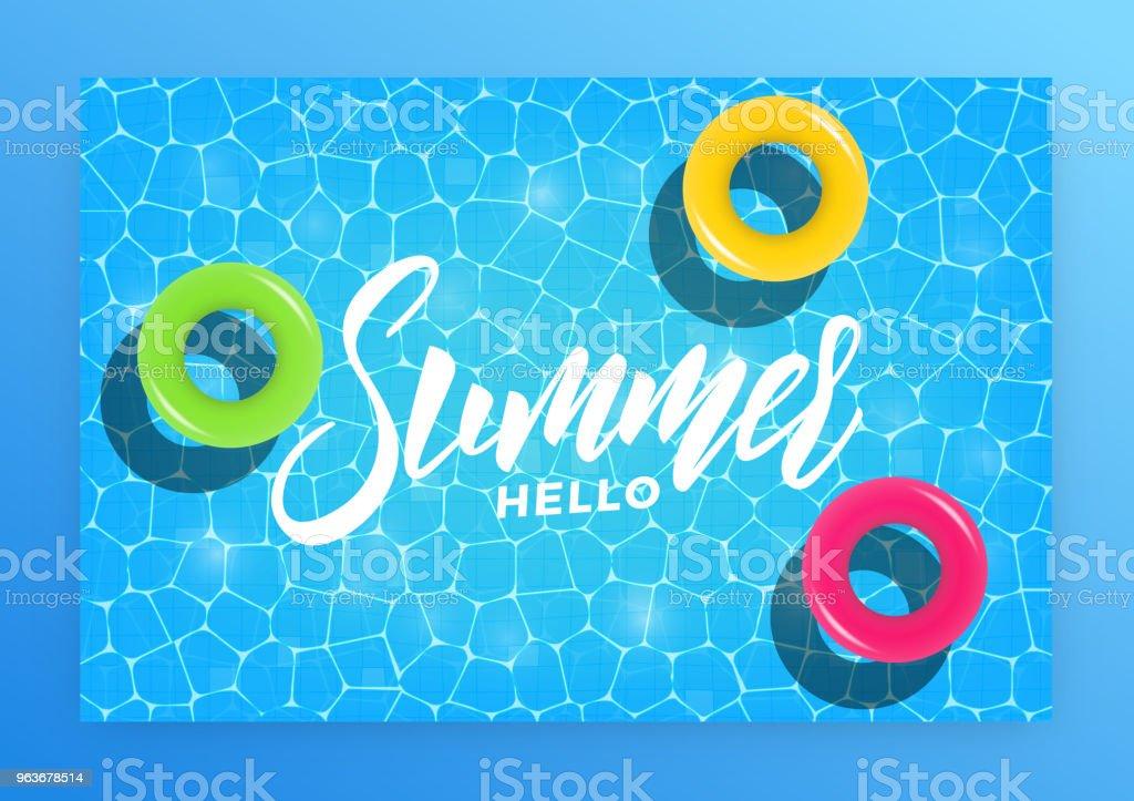 Hello Summer Summer Pool Party Invitation Banner Card