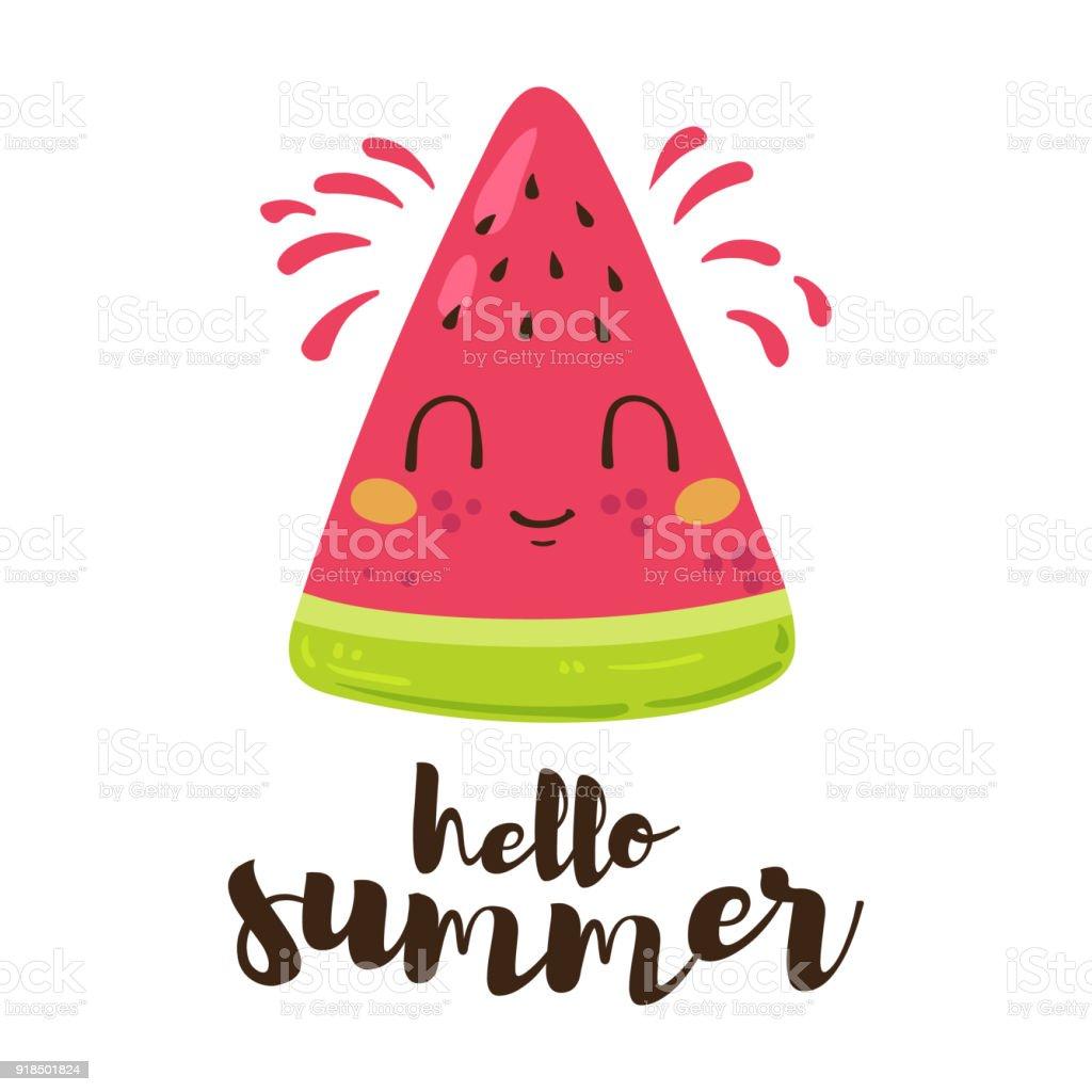 Hello Summer vector card vector art illustration