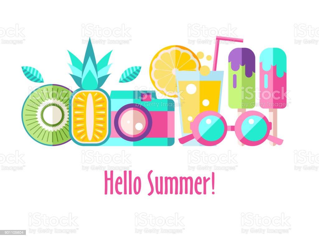 hello summer vector clipart stock vector art more images of rh istockphoto com summer vector art summer vector free icons