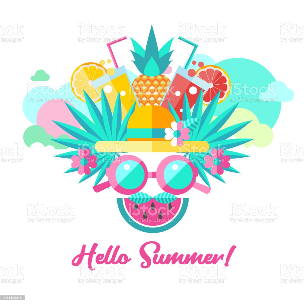 hello summer vector clipart stock vector art more images of rh istockphoto com summer vector free summer vector free