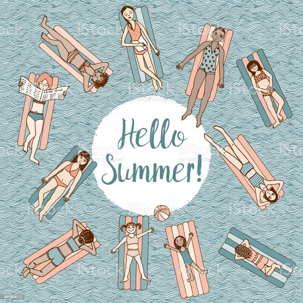Hello Summer! royalty-free hello summer stock vector art & more images of arts culture and entertainment