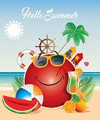 Vector Hello Summer
