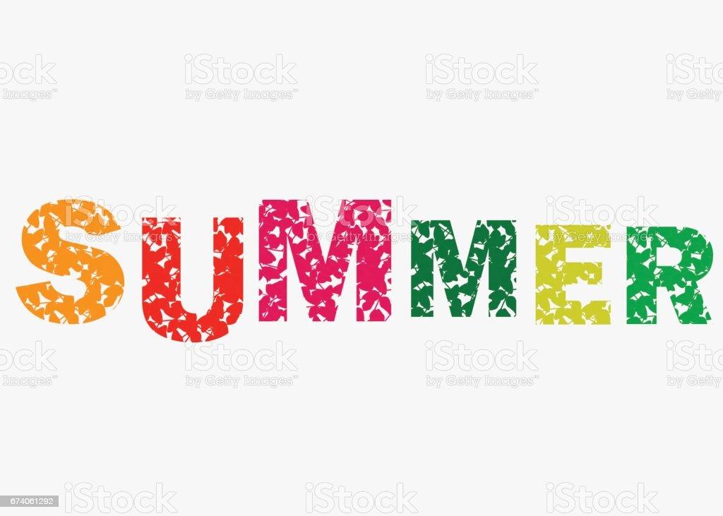 Hello Summer Vector Illustration Background Fun Quote ...