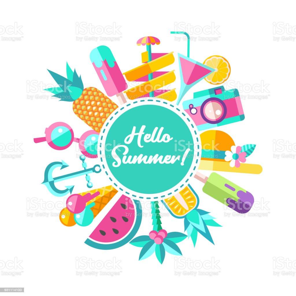 hello summer vector illustration stock vector art more images of rh istockphoto com summer vector files summer vector files