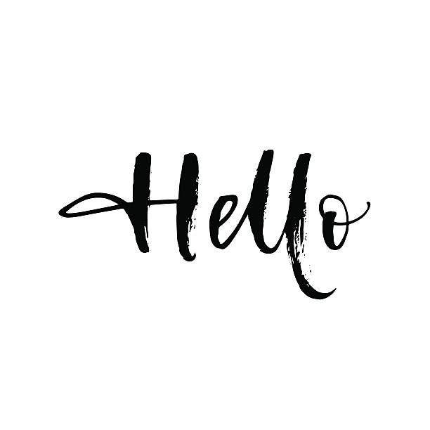hello vector card. - hello stock-grafiken, -clipart, -cartoons und -symbole
