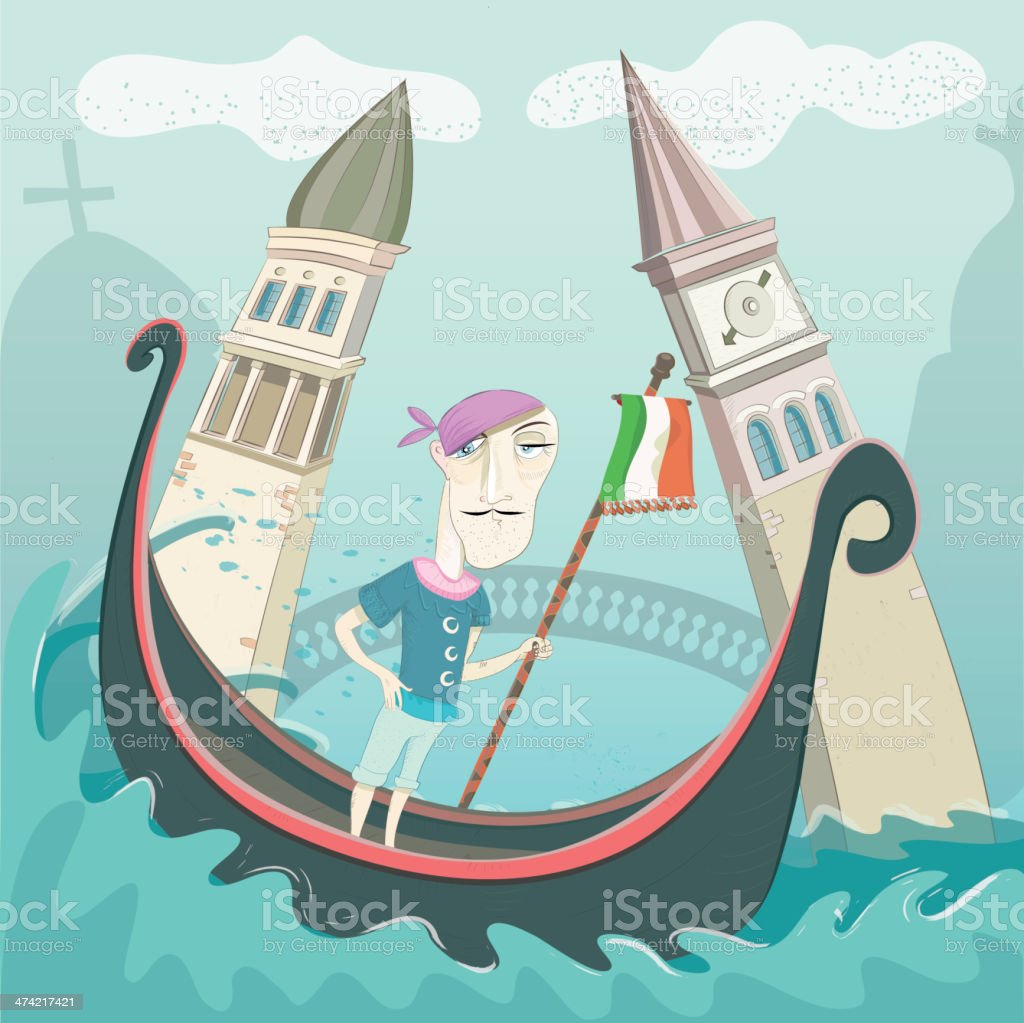 hello venice royalty-free stock vector art