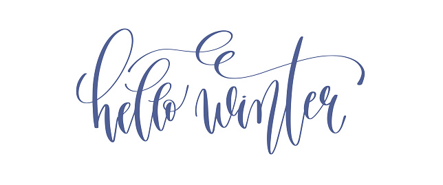 hello winter - hand lettering inscription text to winter holiday