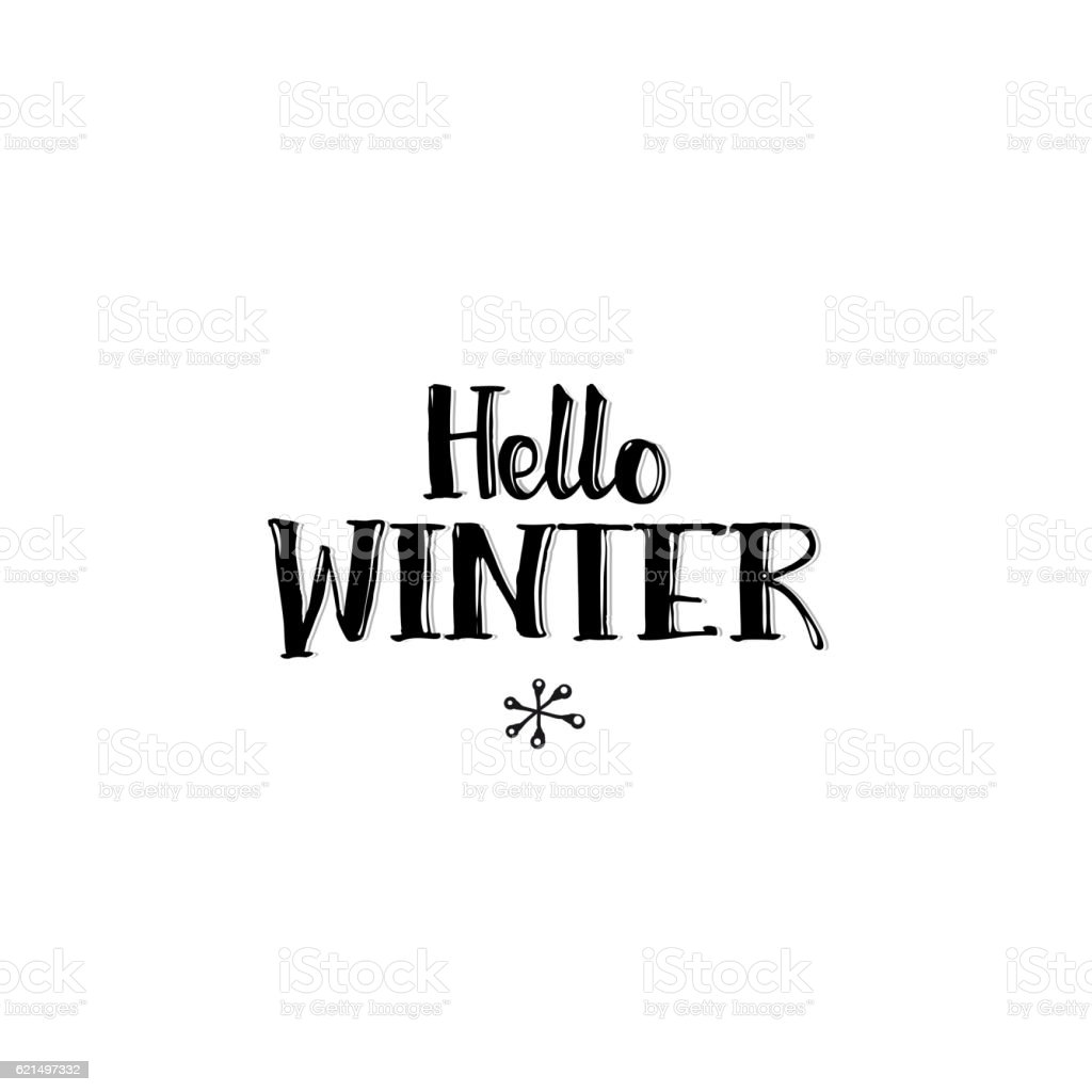 Hello Winter typography hello winter typography – cliparts vectoriels et plus d'images de carré - composition libre de droits