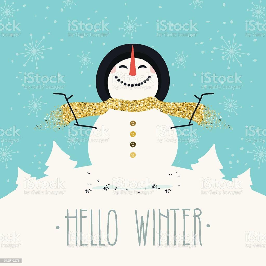 Bonjour d'hiver - Illustration vectorielle