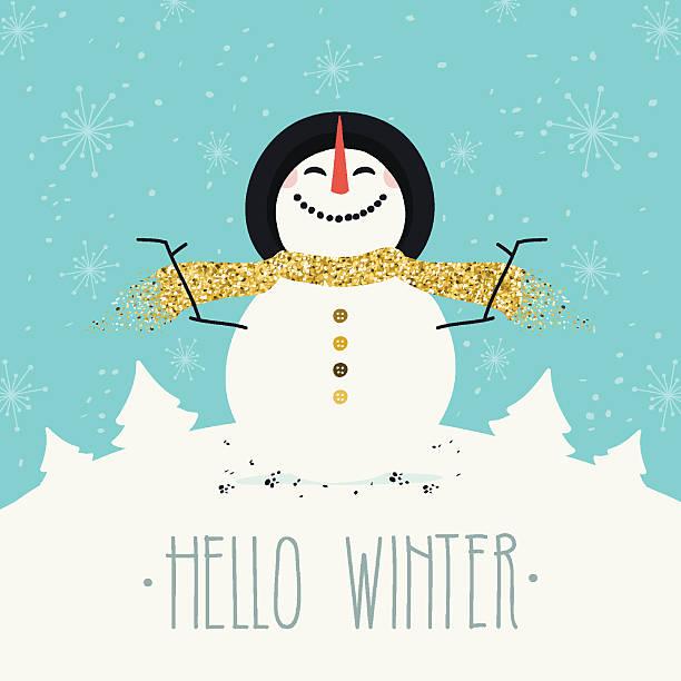 hallo winter  - hello stock-grafiken, -clipart, -cartoons und -symbole