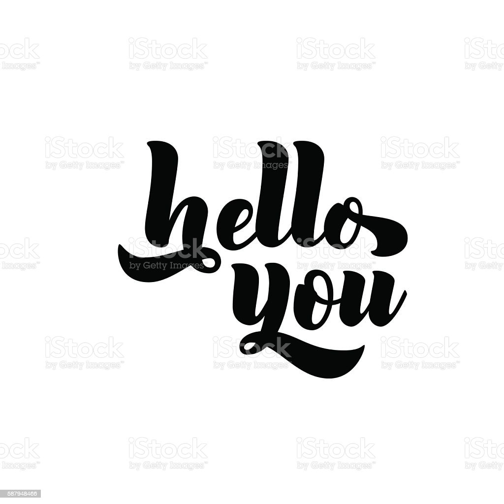 Hello You Phrase Stock Vector Art More Images Of Abstract