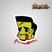 istock Helloween evil voodoo doll pop art comic 824712990