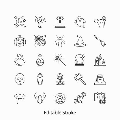 Helloween Line Icon Set