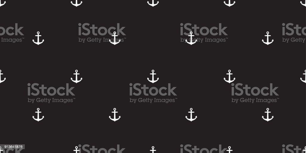 Helm Anchor Seamless Pattern Vector Maritime Nautical Boat Sea Ocean