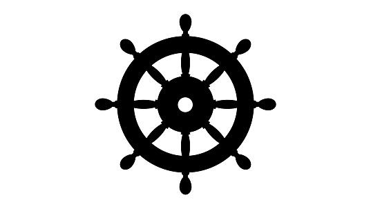 Helm icon vector illustration isolated, symbol flat