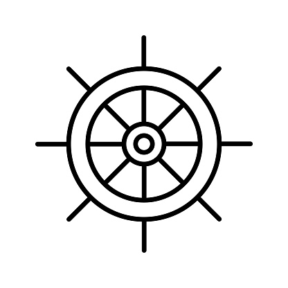 Helm outline icon.