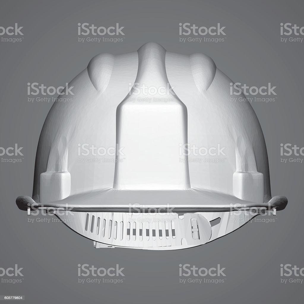 Helmet builder vector art illustration