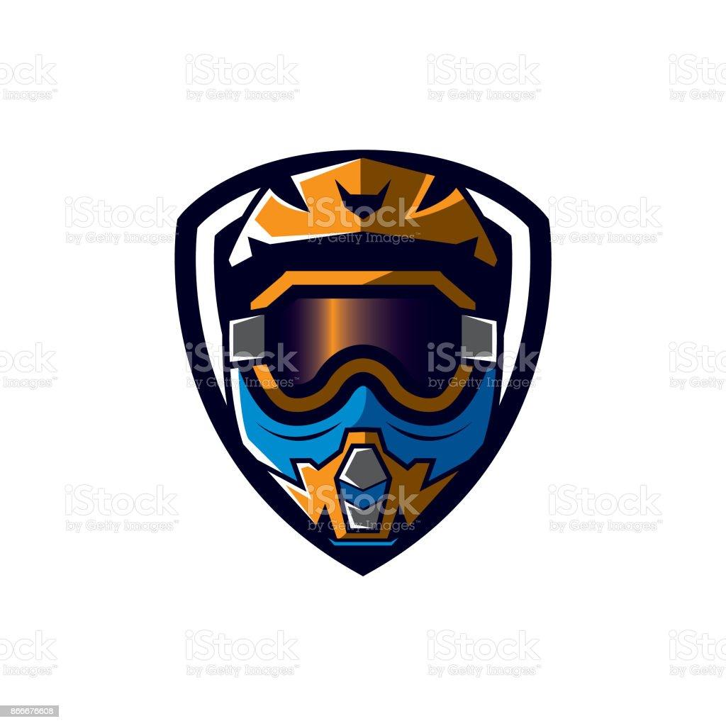 Helmet Motocross Vector Design Template Stock Illustration