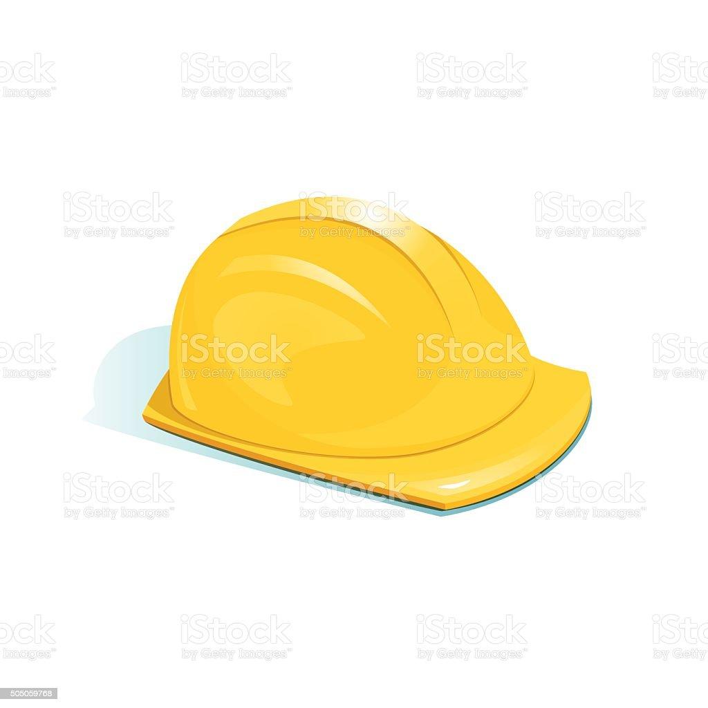 Helmet of worker, vector illustration vector art illustration