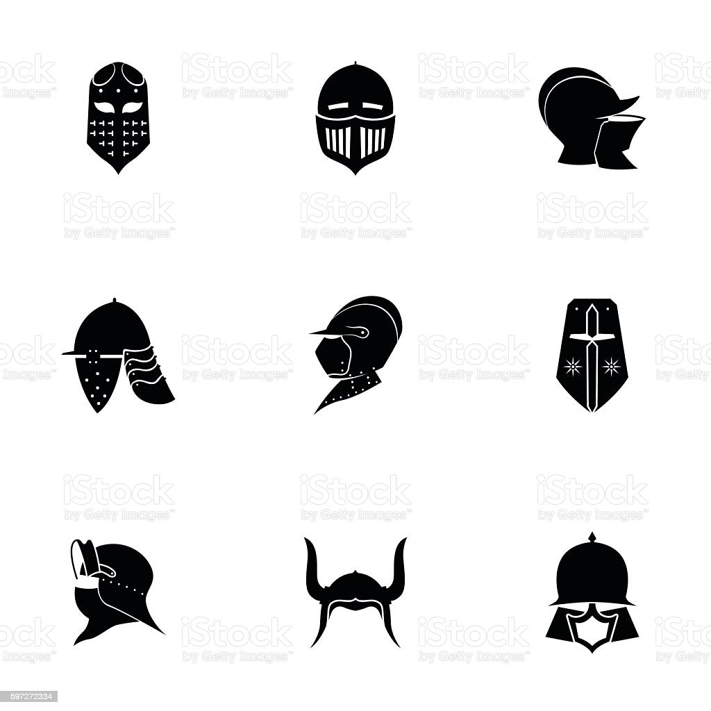 Helmet vector set royalty-free helmet vector set stock vector art & more images of armed forces