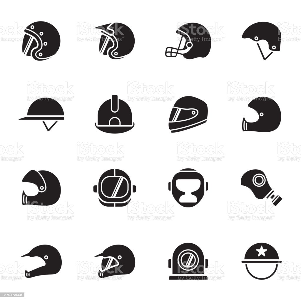 Helmets and masks icons royalty-free helmets and masks icons stock illustration - download image now