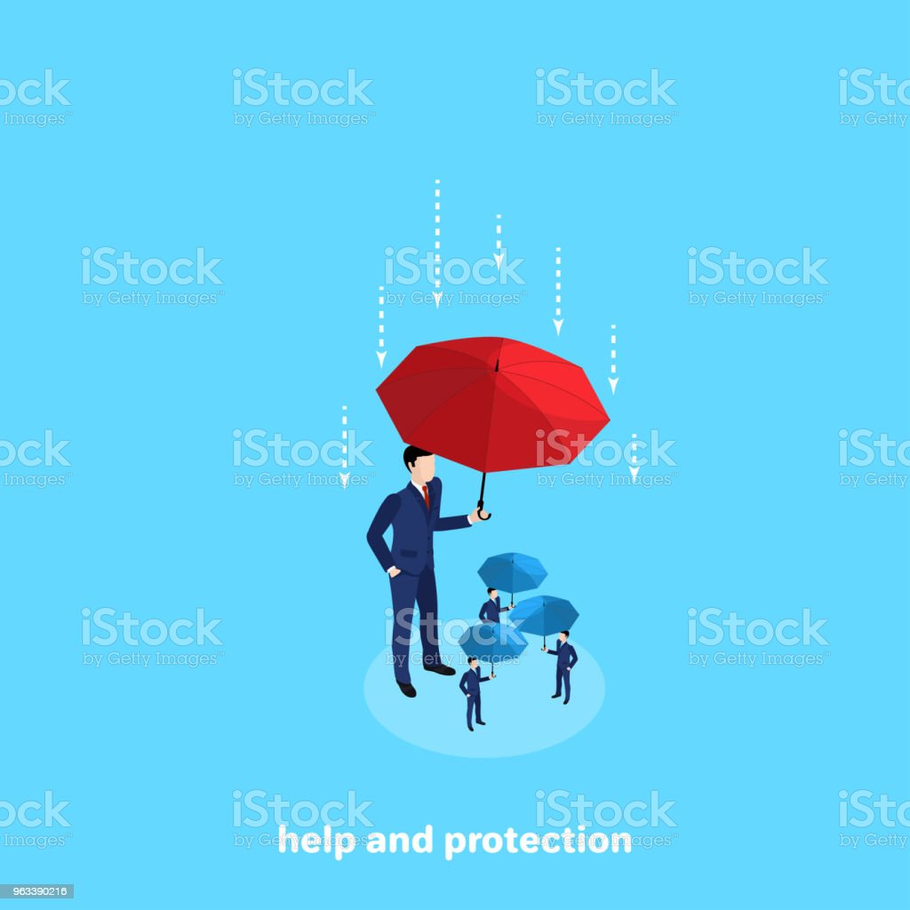Help and protection 2 vector art illustration
