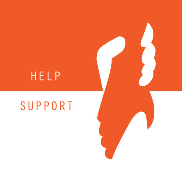 ilustrações, clipart, desenhos animados e ícones de ajuda e suporte mãos segurando juntos de fundo vector design gráfico - apoio