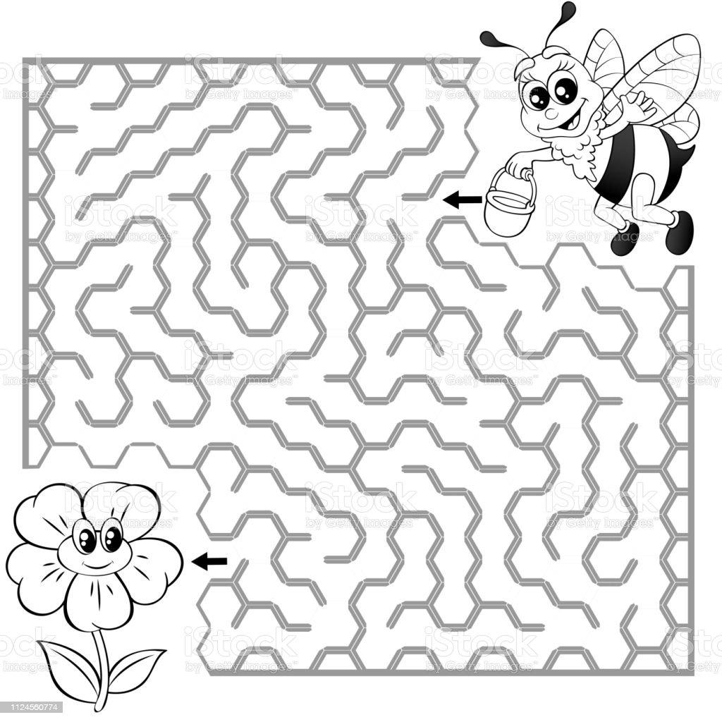 Ari Cicek Yolunu Bulmak Yardimci Labirent Maze Oyunu Cocuklar Icin
