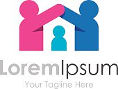 Help care home protect the children elements icon logo