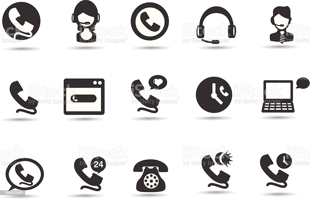 Help Desk Icons royalty-free stock vector art