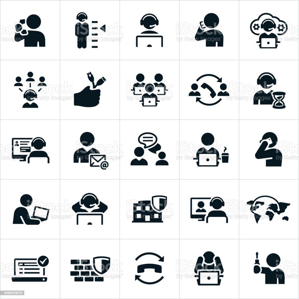 Help Desk iconos - ilustración de arte vectorial