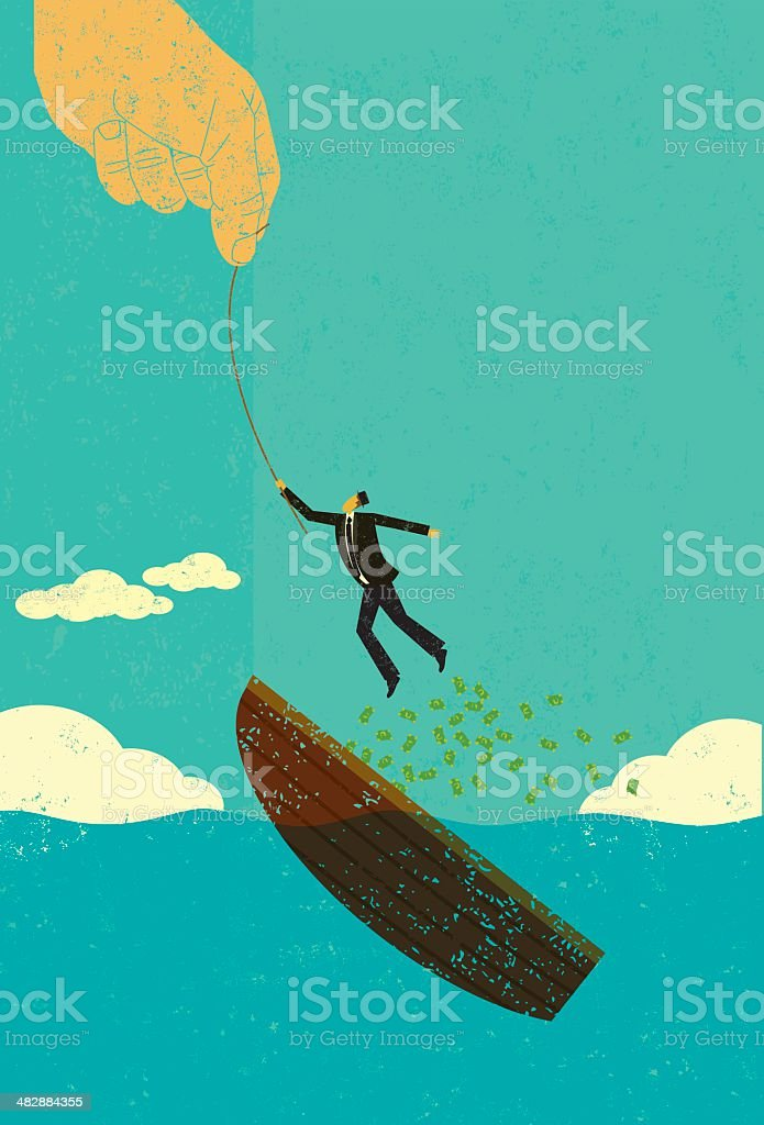 Help escaping bankruptcy royalty-free stock vector art
