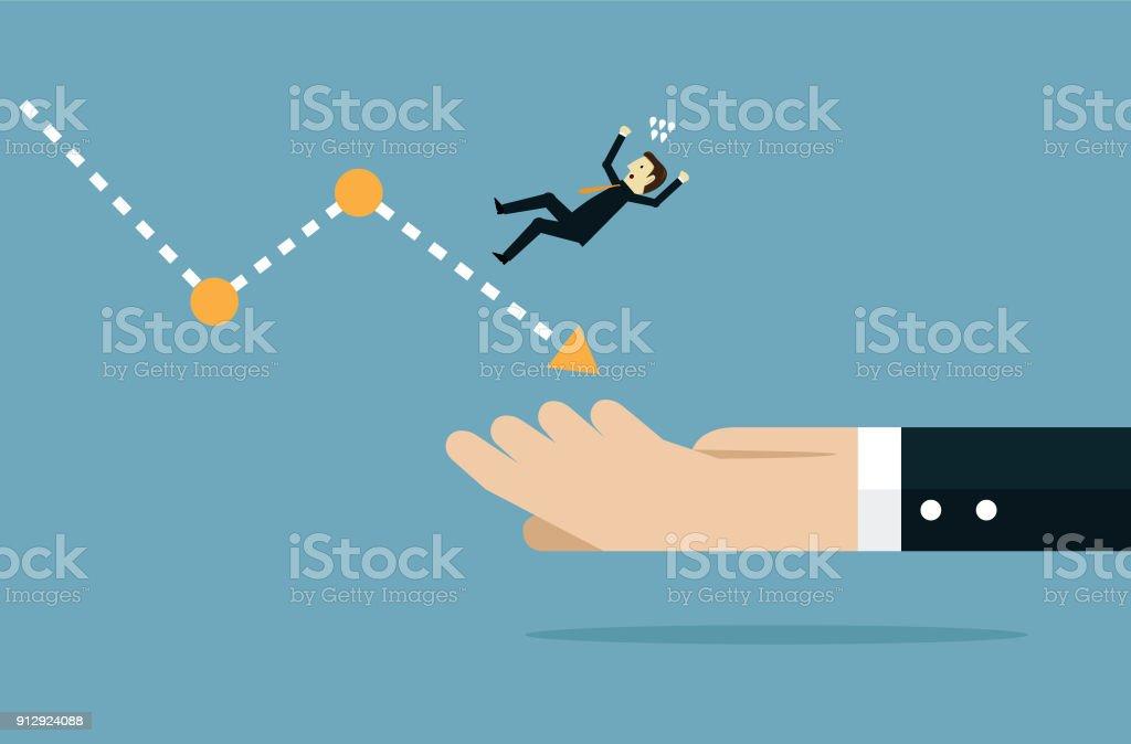 Help in business vector art illustration