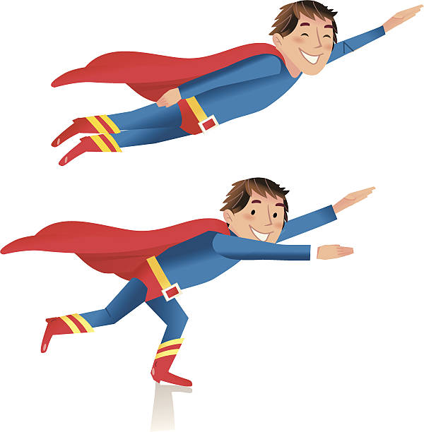 94 Kid Superman Illustrations Royalty Free Vector Graphics Clip Art Istock
