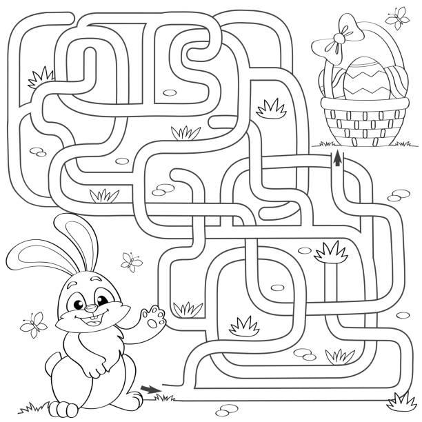 Royalty Free Wild Animals Cartoon Coloring Book Clip Art Vector