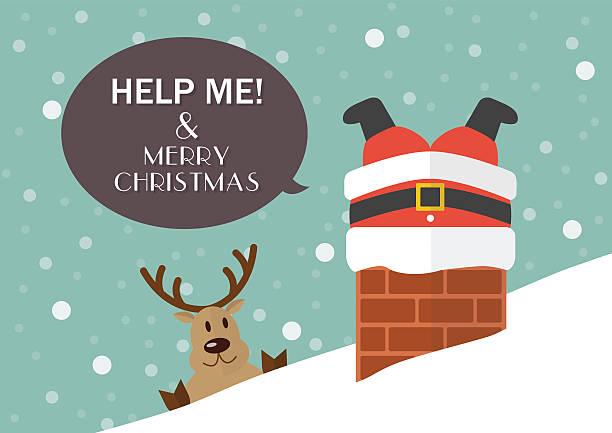 help me and merry christmas - feststecken stock-grafiken, -clipart, -cartoons und -symbole