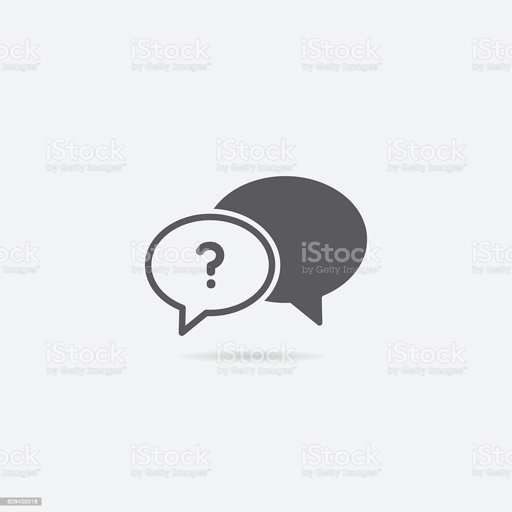 Help or Frequently Asked Questions Chat Bubble Icon vector art illustration